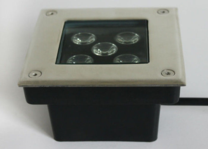 High Efficacy Square LED Underground Lamp 5W Stainless Steel Material